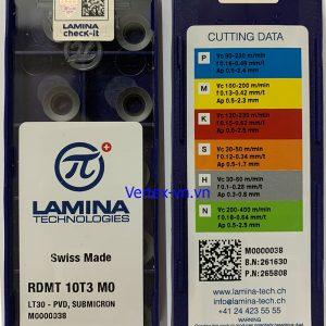 Chíp phay RDMT 10T3 M0 LT 30 (góc R5)