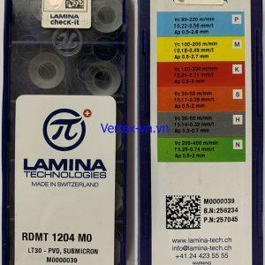 Chíp phay RDMT 1204 M0 LT 30 (góc R6)