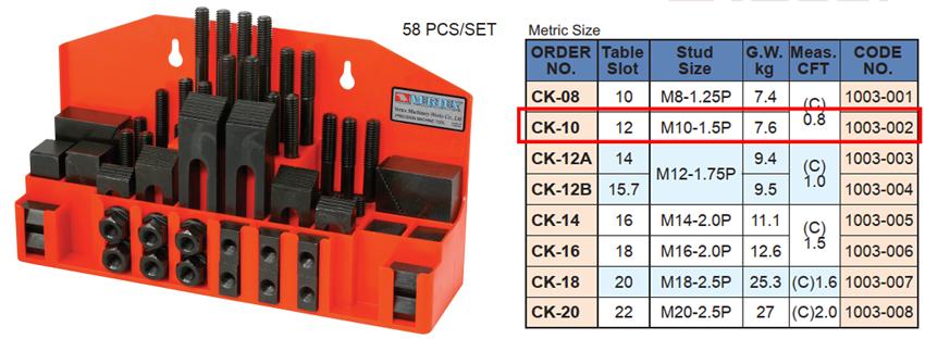 Bộ gá kẹp phôi CK-10 của VERTEX