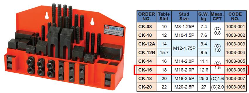 Bộ gá kẹp phôi CK-16 của VERTEX