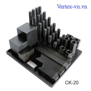 Bộ gá kẹp phôi 52 chi tiết CK-20 của VERTEX